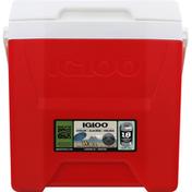 Igloo Cooler, Laguna Red/White, 12 Quart