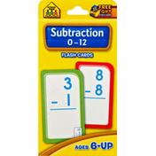 School Zone Flash Cards, Subtraction 0-12