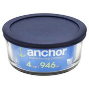 Anchor Baking Dish, Glass, 4 Cup, with Lid