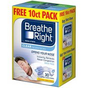 Breathe Right Clear Large Free 10 ct Pack Nasal Strips