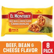 El Monterey Beef Bean & Cheese Chimichangas