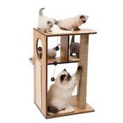 Vesper Large Walnut V-Box Cat Tree