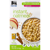 Food Lion Instant Oatmeal, Apples & Cinnamon
