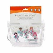 Full Circle Ziptuck Kids, Reusable Snack Bags, Girl Heroes