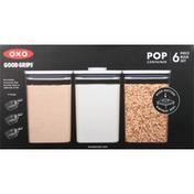OXO Pop Container Set, Bulk, 6-Piece