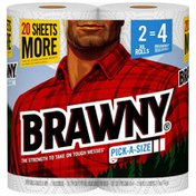Brawny Pick-A-Size Paper Towels, 2 Double Rolls, 2-Ply