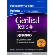 GenTeal Lubricant Eye Drops, Preservative Free, Liquid