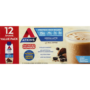 Atkins Protein-Rich Shake, Mocha Latte, Value Pack