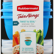 Rubbermaid Containers, Trays & Lids, Twist & Seal