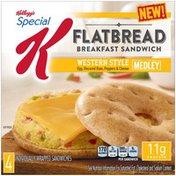 Kellogg's Special K Flatbread Western Style Medley Breakfast Sandwiches