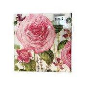 Paperproducts Design Princess Rose Lunch Napkins