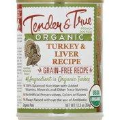 Tender & True Dog Food, Premium, Organic, Turkey & Liver Recipe