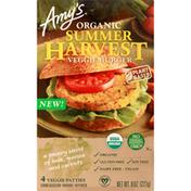 Amy's Burger, Veggie, Organic, Summer Harvest