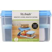 Fit & Fresh Container Set, Lunch On the Go, 7 Piece