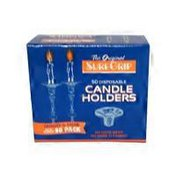 Sure Grip Quality Aluminum Disposable Candle Holder Display