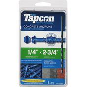 Tapcon Concrete Anchors, 1/4 Inch
