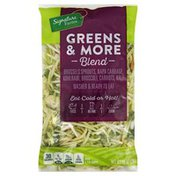 Signature Farms Greens & More Blend Brussels Sprouts, Napa Cabbage, Kohlrabi, Broccoli, Carrots, Kale