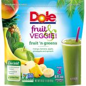Dole Fruit & Veggie Blends Fruit n Greens Smoothie Mix