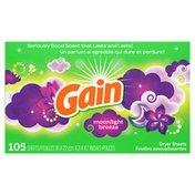 Gain Fabric Softener Dryer Sheets, Moonlight Breeze