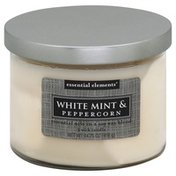 Candle Lite Candle, 3 Wick, White Mint & Peppercorn