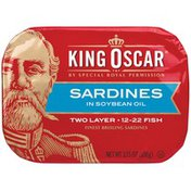 King Oscar Two Layer in Soybean Oil Sardines