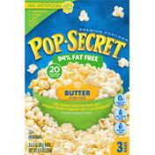 Pop Secret Popcorn, Premium, 94% Fat Free, Butter