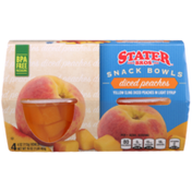 Stater Bros. Markets Diced Peaches Yellow Cling Diced Peaches In Light Syrup Snack Bowls