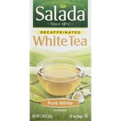 Salada White Tea, Pure White, Decaffeinated, Tea Bags