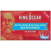 King Oscar Skinless/Boneless in Water Sardines
