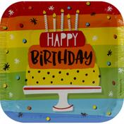 Party Creations Plates, Hoppin' Birthday Cake