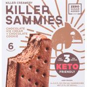Killer Sammies Sandwiches, Chocolate Ice Cream + Chocolate Cookie