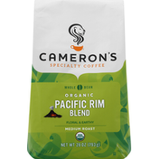 Camerons Coffee, Organic, Whole Bean, Light Roast, Pacific Rim Blend