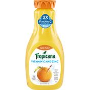 Tropicana Orange No Pulp with Added Vitamin C and Zinc 100% Juice