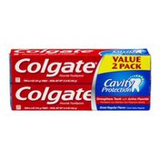 Colgate Fluoride Toothpaste Cavity Protection - 2 CT