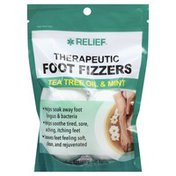 Relief Foot Fizzies, Thereapeutic, Tea Tree Oil & Mint