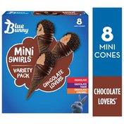 Blue Bunny Mini Swirls Chocolate Lovers Cones