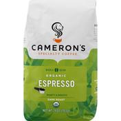 Camerons Coffee, Organic, Whole Bean, Dark Roast, Espresso