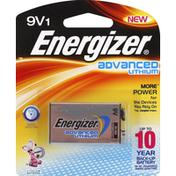 Energizer Battery, Lithium, 9V