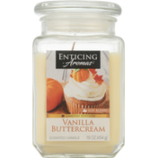 Enticing Aromas Scented Candle, Vanilla Butter Cream