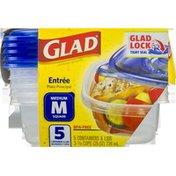 Glad Containers Entree Medium Square - 5 CT