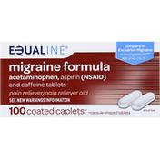 Equaline Migraine Formula, Coated Caplets