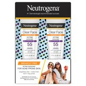 Neutrogena® Clear Face Liquid Lotion Sunscreen With Broad Spectrum SPF 55