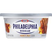 Philadelphia Cream Cheese Spread, Regular, Honey Nut Flavor
