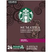 Starbucks Sumatra Dark Roast Coffee K-Cup Pods