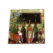 Ideal Home Range Wine & Olives 3-Ply Cocktail Napkin