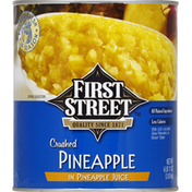 First Street Pineapple, Crushed, Pineapple Juice