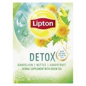 Lipton Herbal Supplement With Green Tea Dandelion, Nettle, And Grapefruit