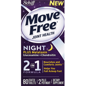 Move Free Glucosamine + Chondroitin, Plus Melatonin, Night, Coated Tablets