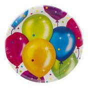 Party Creations Birthday Balloons Plates 8 3/4 Inch - 8 CT