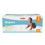 Meijer Premium Baby Diapers Size 3